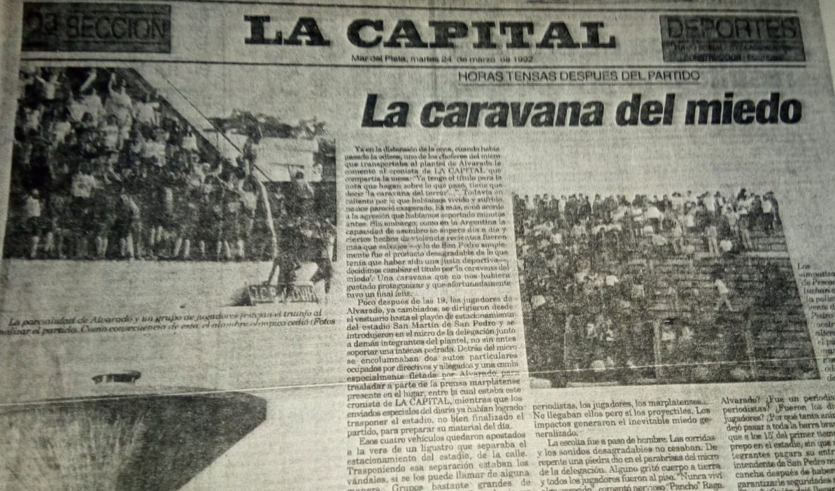 Un día como hoy: 'La caravana del miedo' titulaba La Capital de Mar del Plata