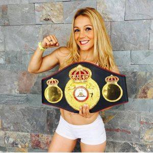 La campeona de más defensas, Yésica «tuti» Bopp