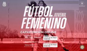 AFA realiza una capacitación online para fútbol femenino juvenil