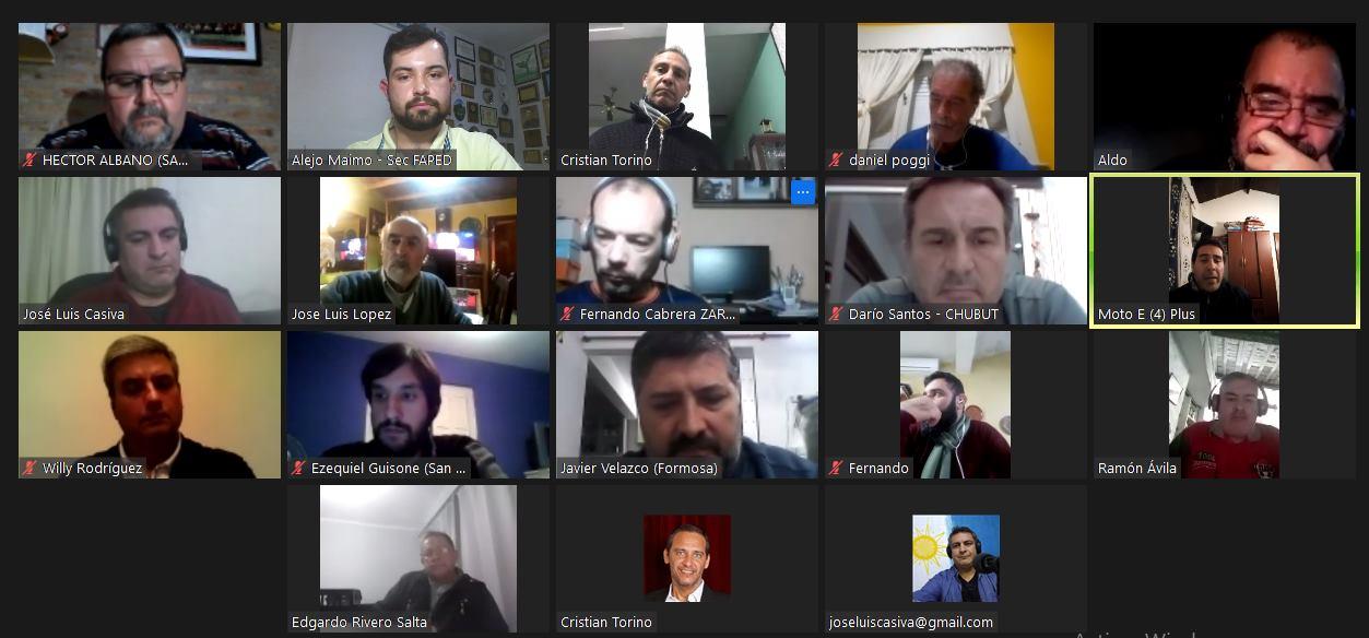 FAPED llevó a cabo reunión virtual. Participó el CPDSP