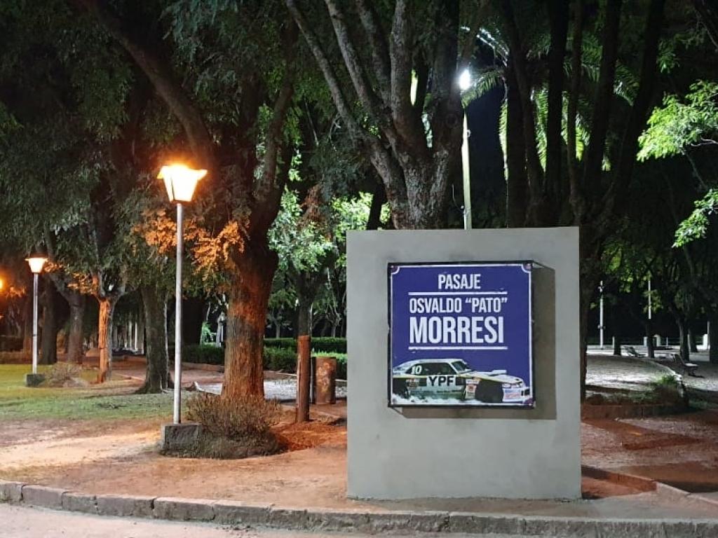 Pasaje Osvaldo Morresi, justo reconocimiento