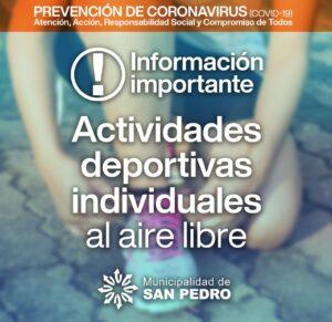 Lee más sobre el artículo ¡¡ULTIMO MOMENTO!! Autorización de deportes individuales al aire libre y fin de restricción por DNI