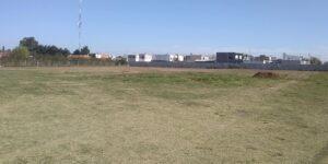 Mitre inicio la construcción de su cancha de fútbol mayor
