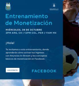 AFA dicta capacitación de entrenamiento de monetización de facebook