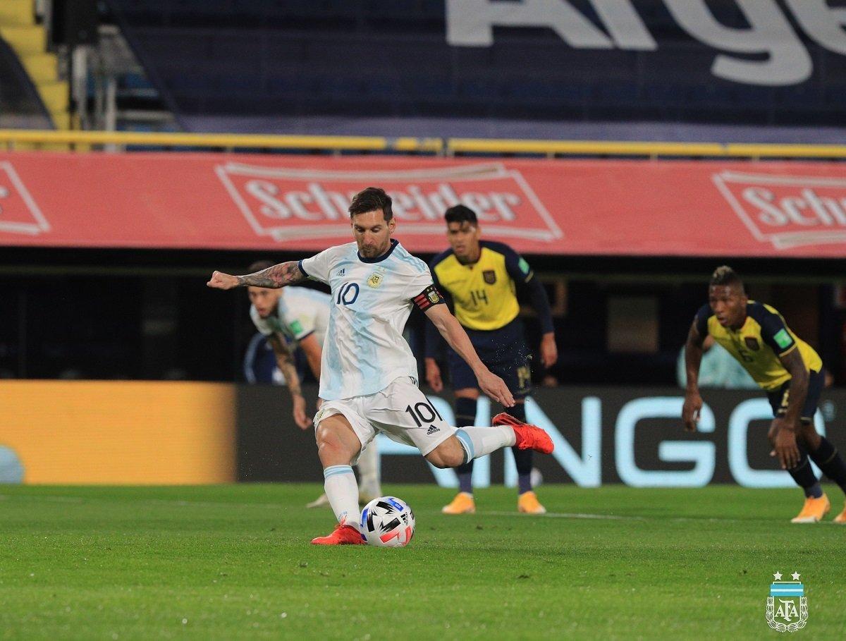 Argentina se impuso por la mínima a Ecuador