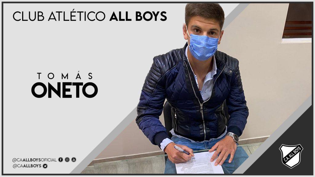 Lee más sobre el artículo Tomás Oneto es nuevo jugador de All Boys