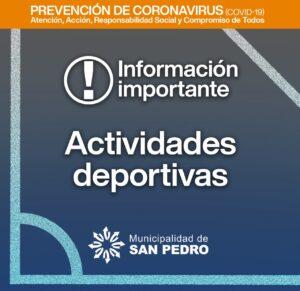 Desde el lunes 9 se podrá realizar practicas deportivas de hasta 10 personas