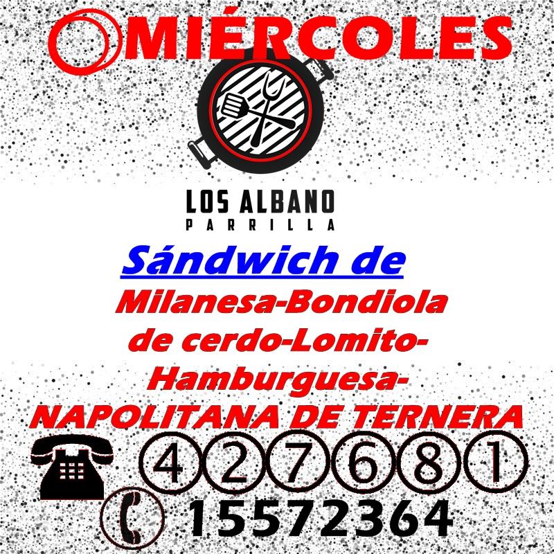 Los partidos por TV y un menú de Los Albano!!