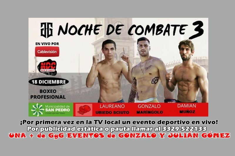 GYG de Gonzalo y Julian Gómez nos confirmó que serán tres peleas profesionales el 18/12