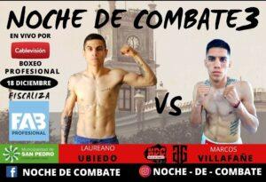 Lee más sobre el artículo Boxeo por TV: Una gala con cuatro peleas profesionales en San Pedro