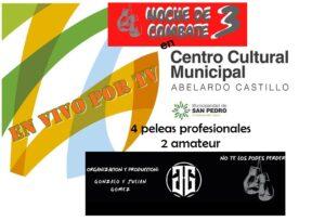 ¿La gala de boxeo será en el Centro Cultural Abelardo Castillo?