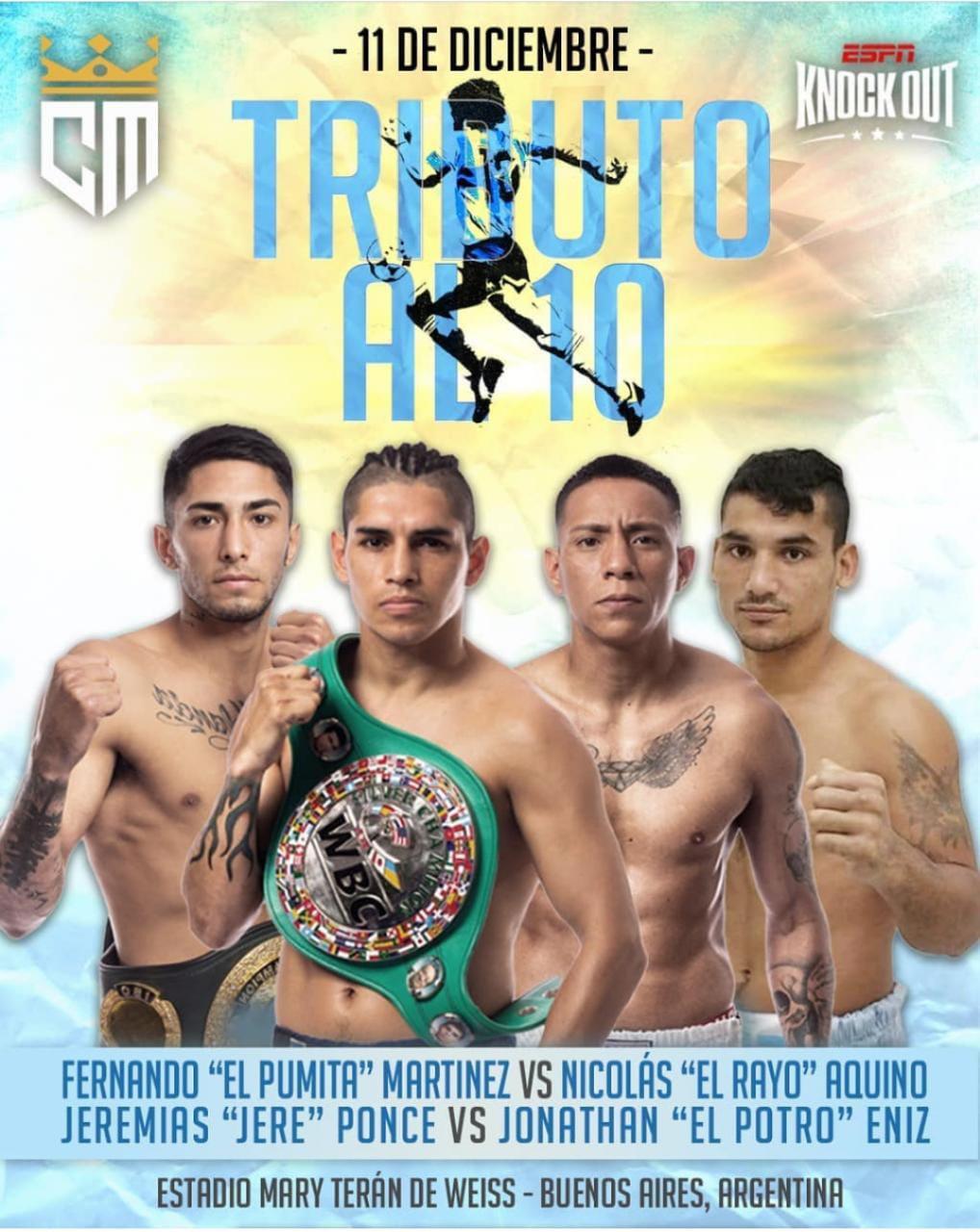 Chino Maidana Promotions realiza velada con 14 peleas profesionales
