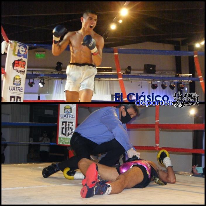 Boxeo en San Pedro: Laureano «Dinamita» Ubiedo demostró tener puños picantes. Mira el impresionante KOT