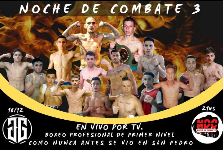 En vivo para San Pedro y la zona: Boxeo Profesional el 18 de diciembre