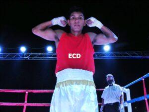 Lee más sobre el artículo Boxeo en San Pedro: entre los aficionados, triunfos de Cóceres, Unco y Calveras