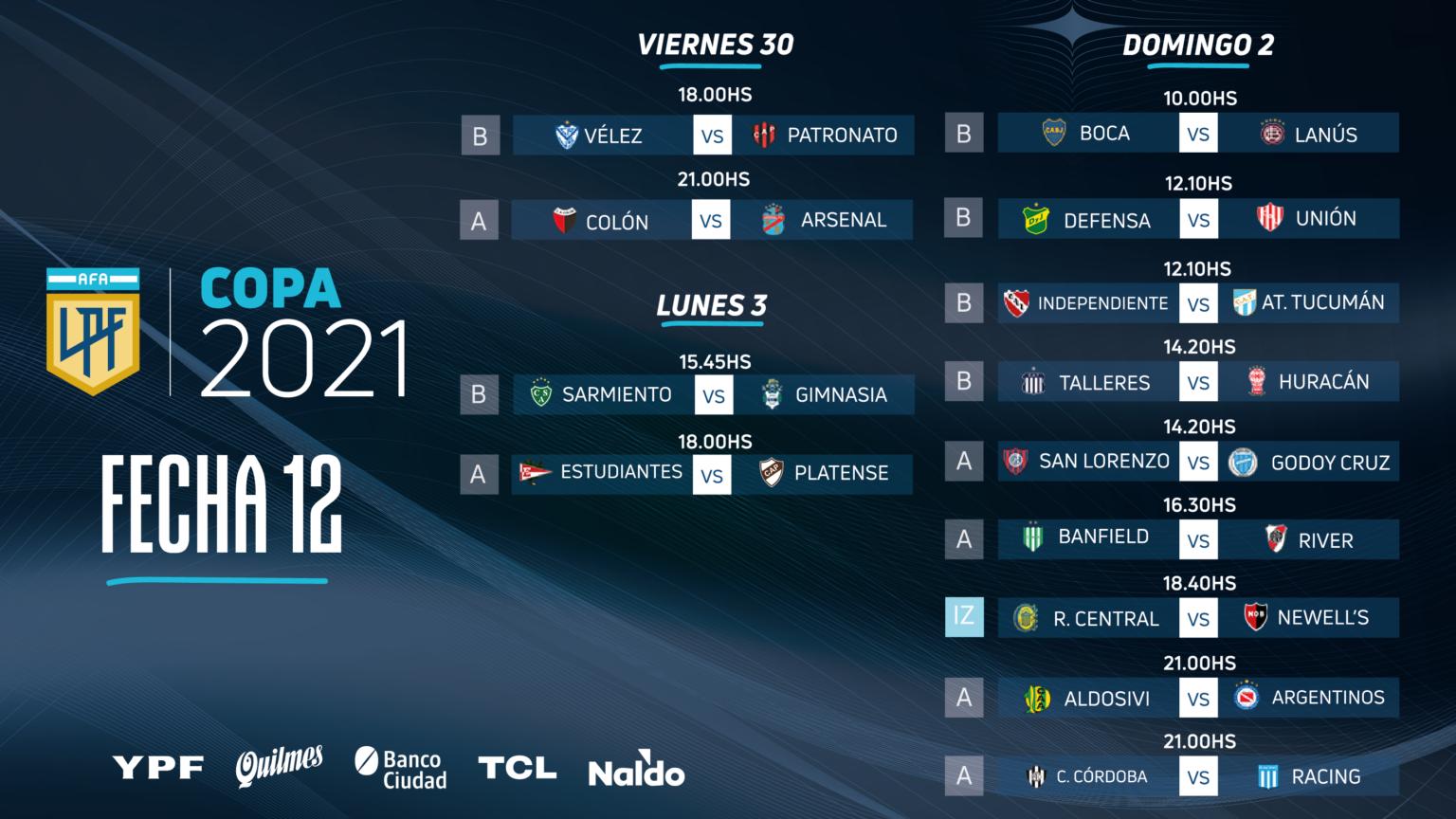 Vélez – Patronato, comienza la jornada 12 de la Copa de la Liga