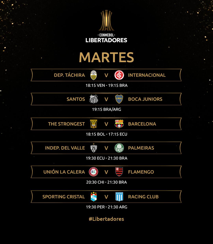 Copa Libertadores: Racing juega ante Sporting Cristal y Boca visita a Santos