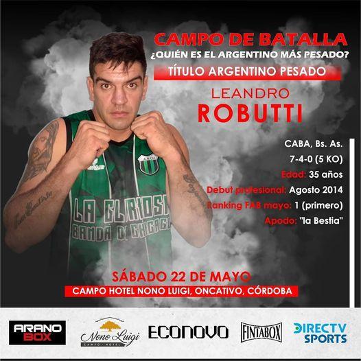 Robutti: «Me voy a consagrar campeón»