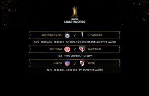 Copa Libertadores: Argentinos Juniors ante Católica; Defensa-Universitario y River Plate visita a Juniors