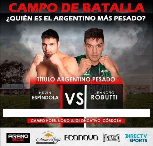 Lee más sobre el artículo Kevin Espíndola: la pelea por el Título Argentino ante Robutti pasó para el 26 de junio