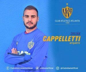 Lee más sobre el artículo Primera Nacional: Julián Cappelletti estará en el banco de Atlanta en el clásico con Chacarita