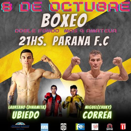 En este momento estás viendo Para octubre nueva gala de boxeo con Ubiedo y Correa como fondistas