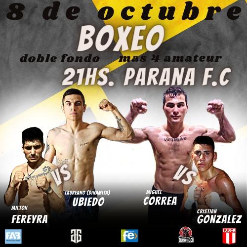 Lee más sobre el artículo Todo listo para el festival de boxeo del 8 de octubre en Paraná FC